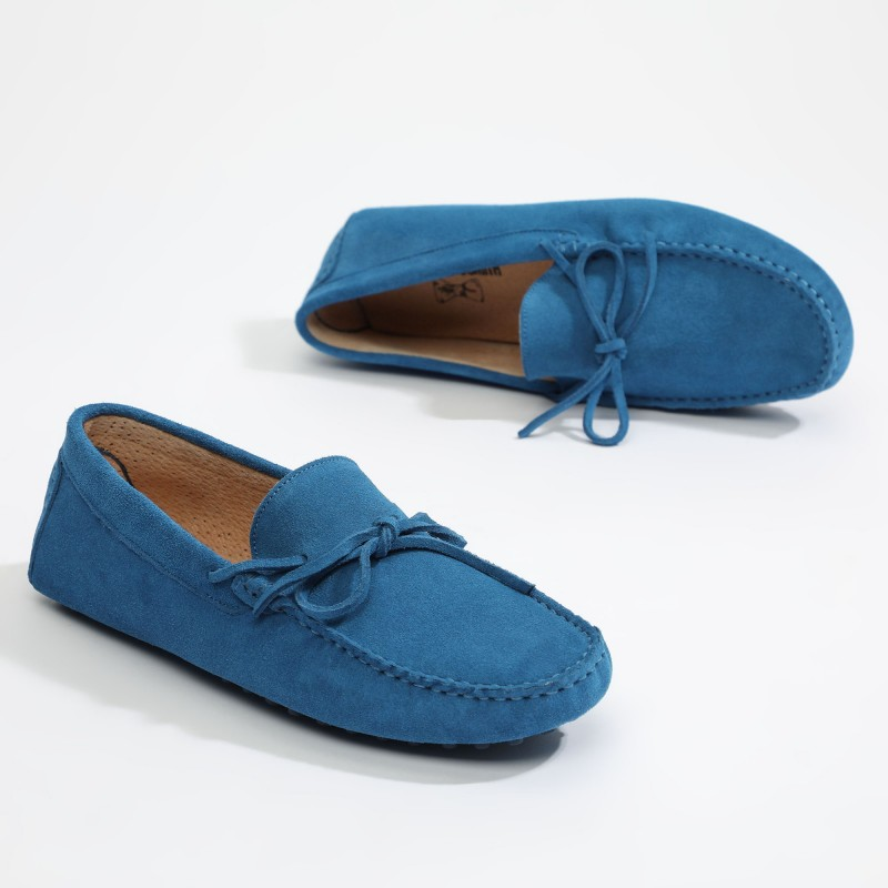 Mocassin Johnny Lacets Bleu...