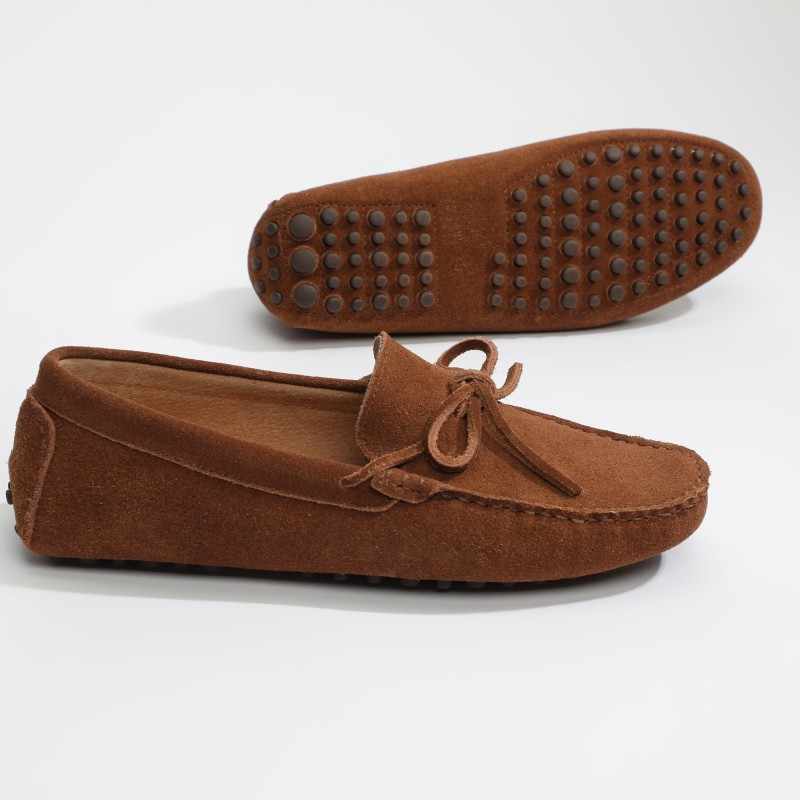 Mocassin Johnny Lacets Camel