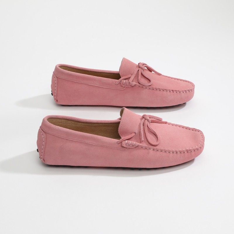 Mocassin Johnny Lacets Rose