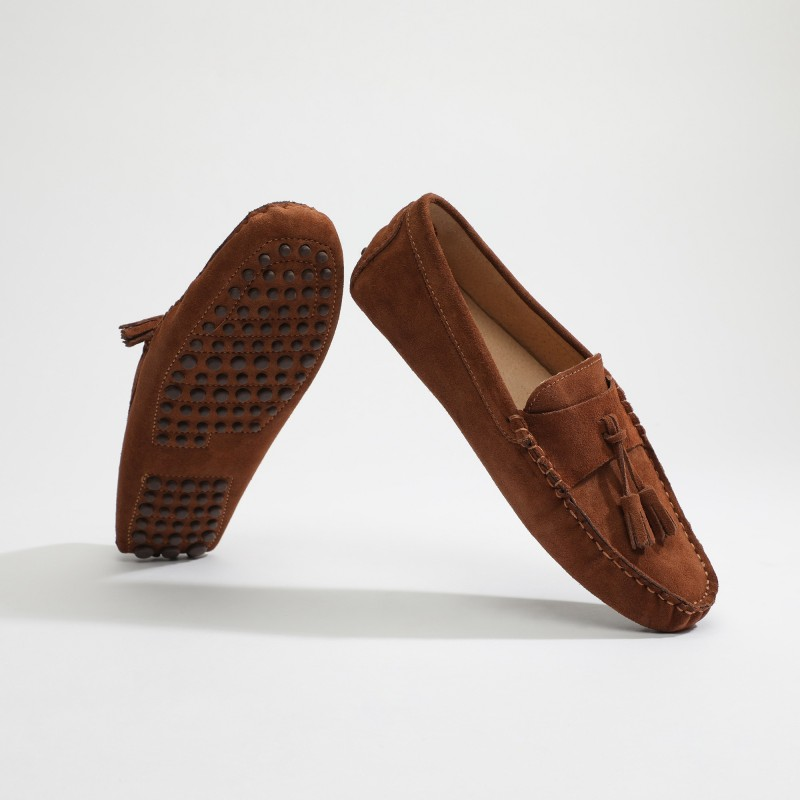 Mocassin Fred Lacets Camel