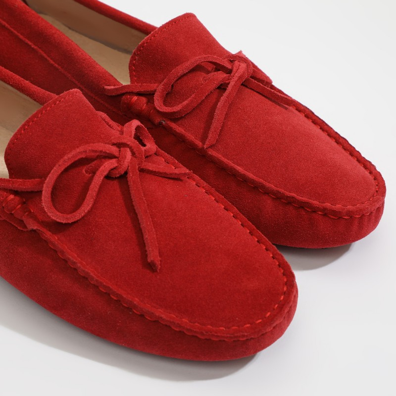 Mocassin Johnny Lacets Rouge