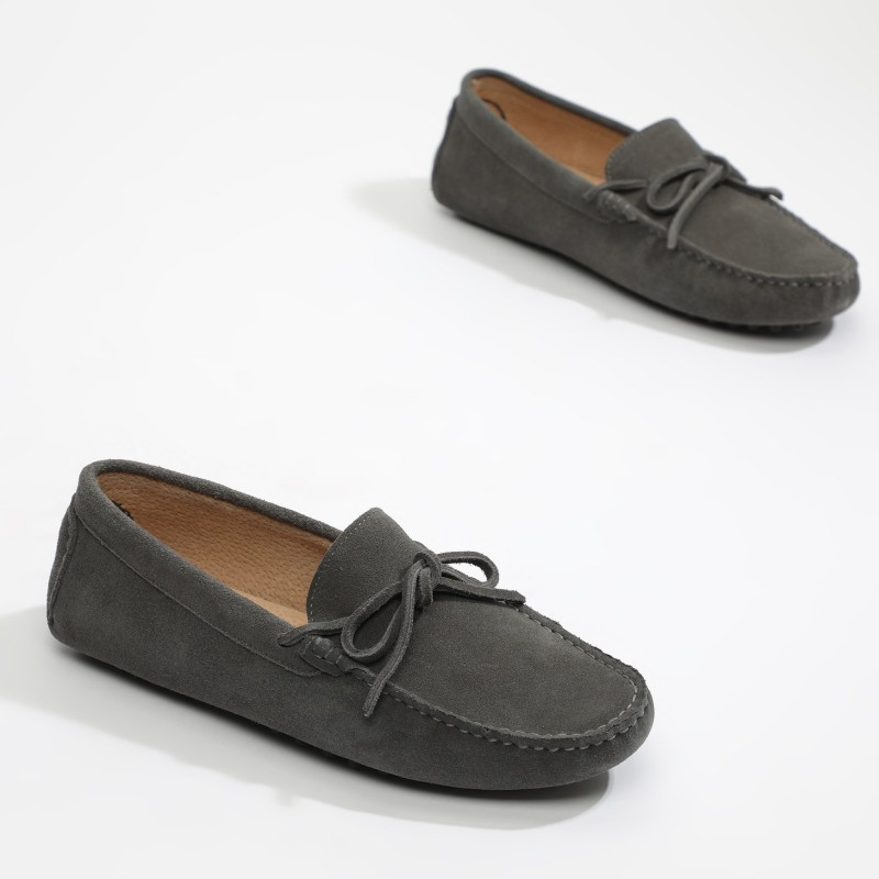 Mocassin Johnny Lacets Gris...