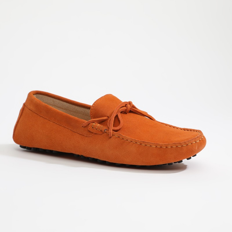 Mocassin Johnny Lacets Orange