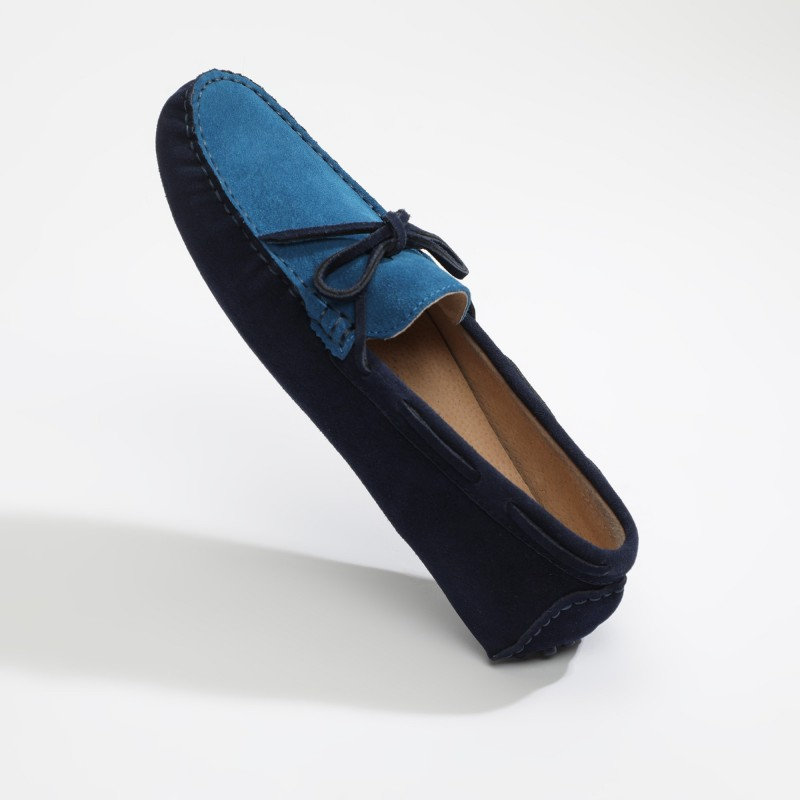 Mocassin Hardy Lacets Bleu...