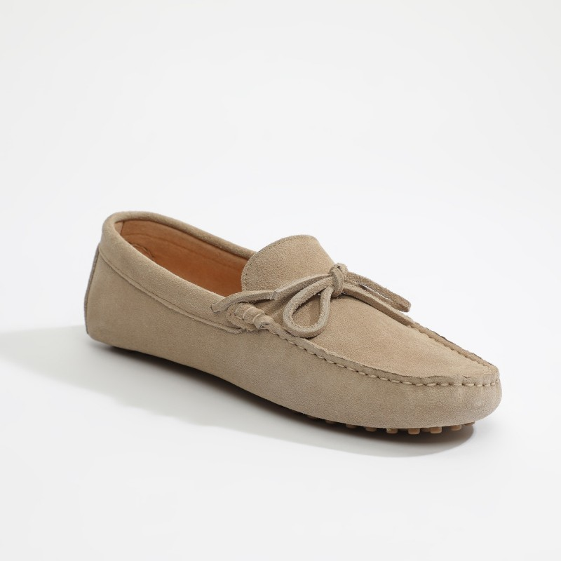 Mocassin Johnny Lacets Beige