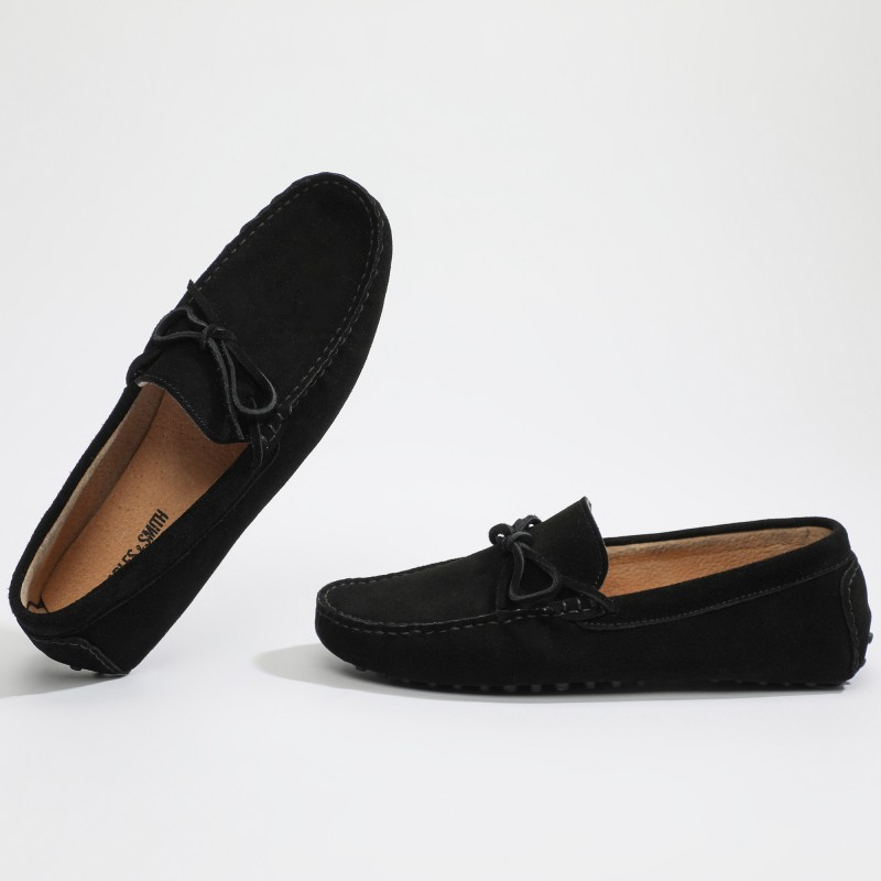 Mocassin Johnny Lacets Noir