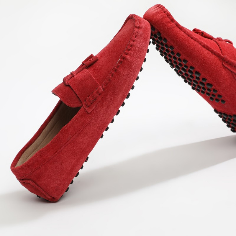 Mocassin Luke Lacets Rouge