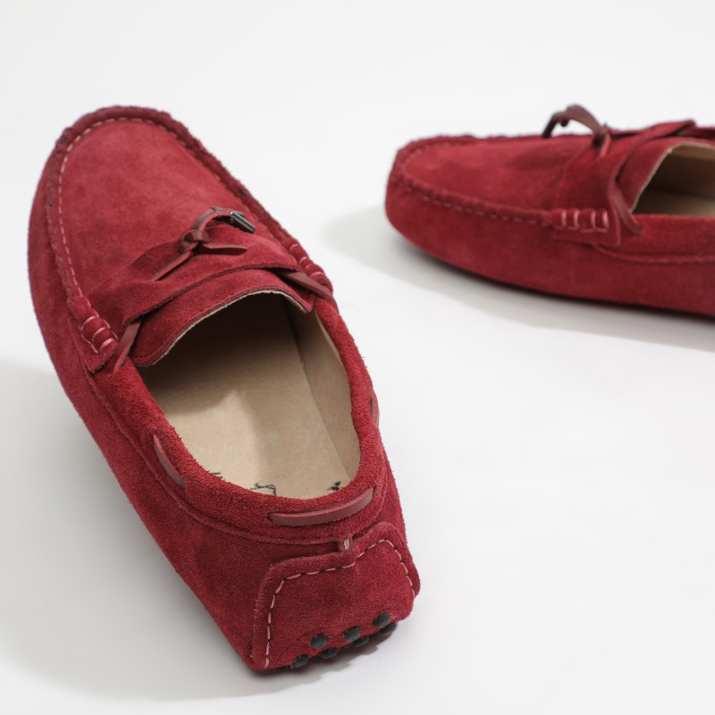 Mocassin Luke Lacets Bordeaux