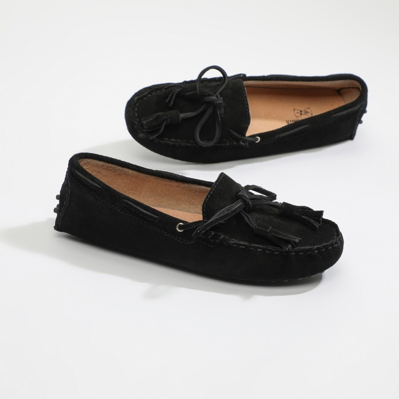 Mocassin January Lacets Noir