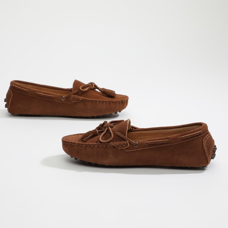 Mocassin January Lacets Camel