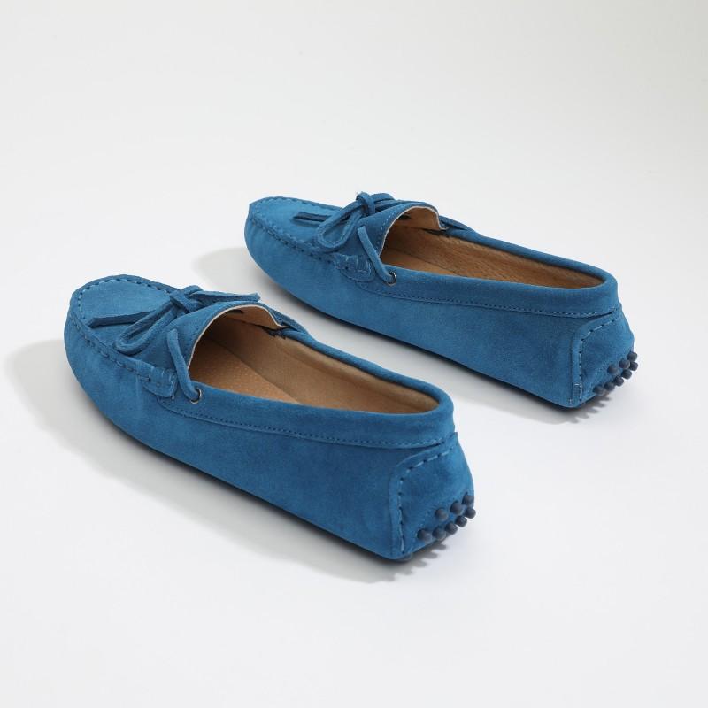 Mocassin Newton Lacets Bleu...