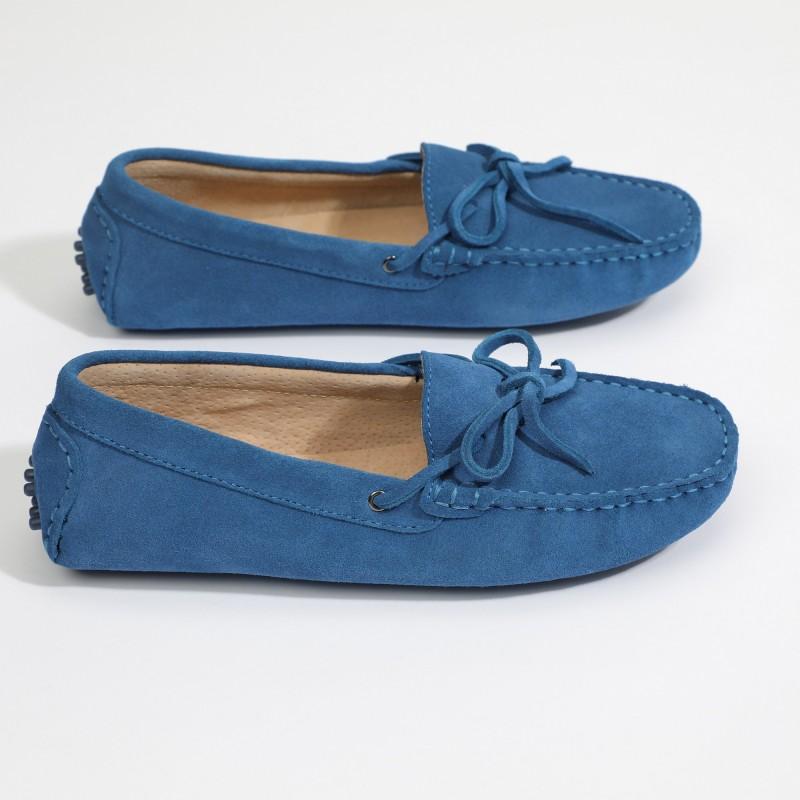 Mocassin Newton Lacets Bleu