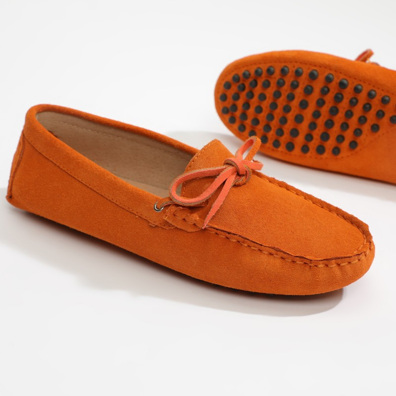 Mocassin Newton Lacets Orange