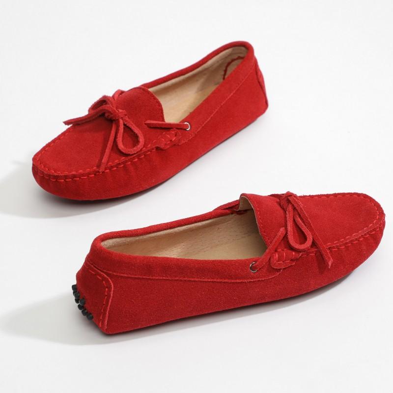 Mocassin Newton Lacets Rouge