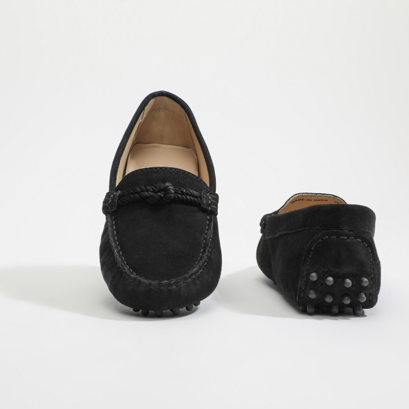 Mocassins Lacets et pompoms...
