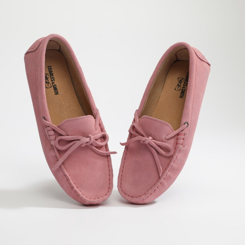 Mocassin Newton Lacets Rose...