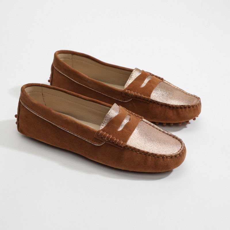 Mocassins Fantaisie Marron...
