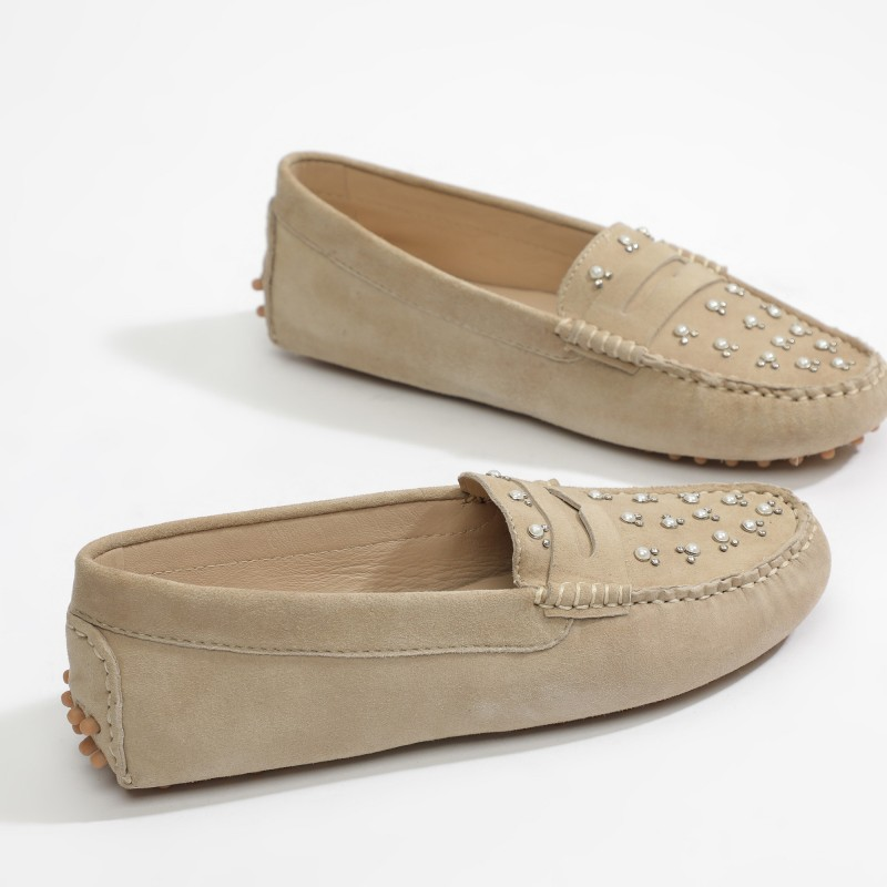 Mocassins Fantaisie Beige...